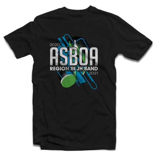 2020 ASBOA Region III JH Band Black T-shirt