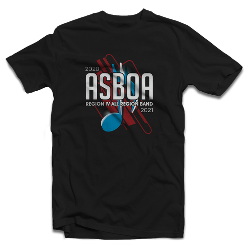 2020-2021 ASBOA Region IV Band Black T-shirt