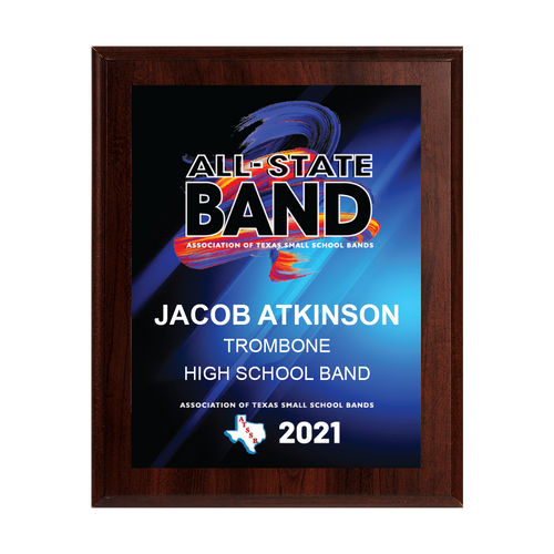2021 ATSSB All-State 8x10 Plaque