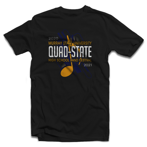 2020-2021 Murray State University Quad-State Festival Black T-Shirt