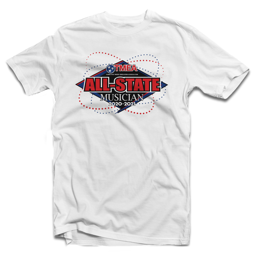 2021 TnMEA Tennessee All-State White T-Shirt
