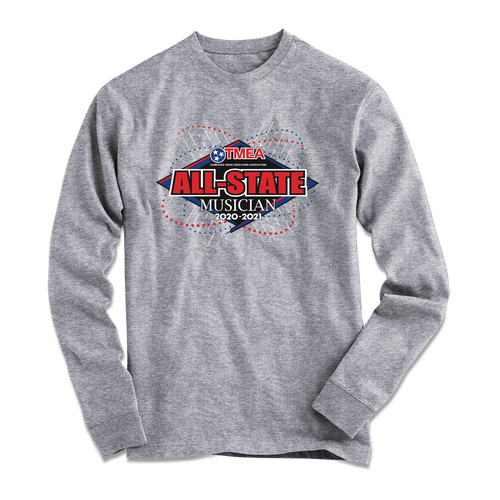 2021 TnMEA Tennessee All-State Graphite Heather Long Sleeve