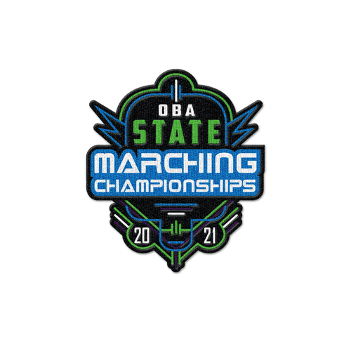 2021 OBA State Marching  Band Championships Patch