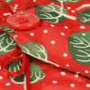 Large 'Crackle' fabric wrap - Christmas Winter Trees in Red Berry.  Close-up.