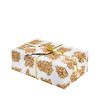 The same size as a standard sheet of wrapping paper (68cm x 48cm).  Pictured here wrapping a larger gift (30cm x 20.5cm x 10.5cm).