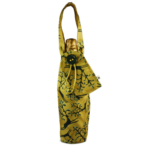 Bottle Bag in Old Gold.  Shown with bottle (not included!)