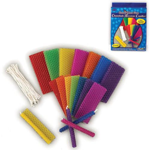 Hanukkah (Chanukah) Bees Wax Candle Kit for 44 Candles