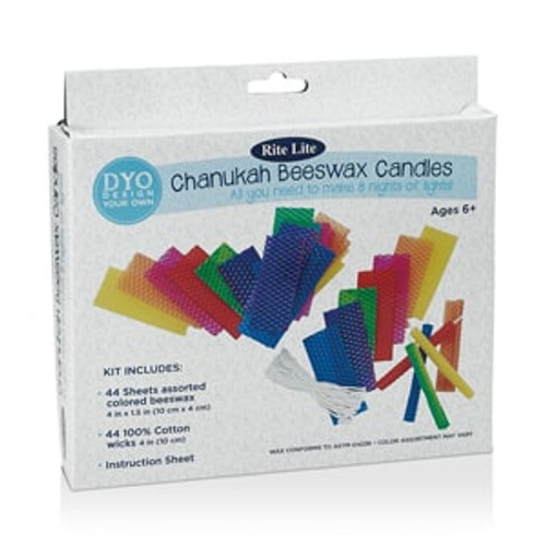 Design Your Own Chanukah Beeswax Candles Kit