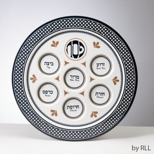 """Seder Traditions"" Melamine Passover Seder Plate"