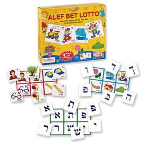 Lotto Hebrew Aleph Bet (Hebrew Alphabet)