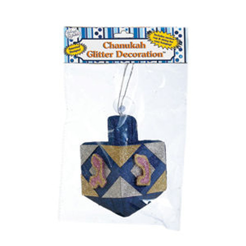 Chanukah Dreidle Glitter Decoration