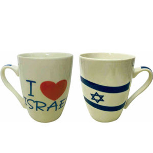 """I love Israel"" Mug in modern look & design"