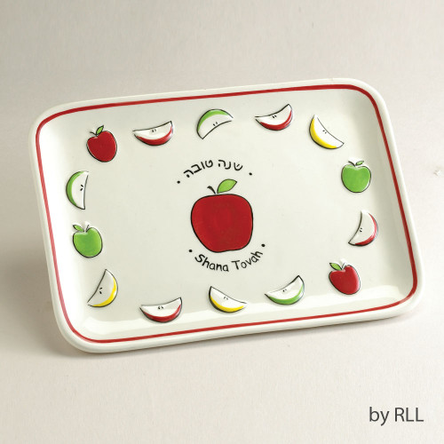 "Ceramic ""Shana Tova"" Apple Plate"