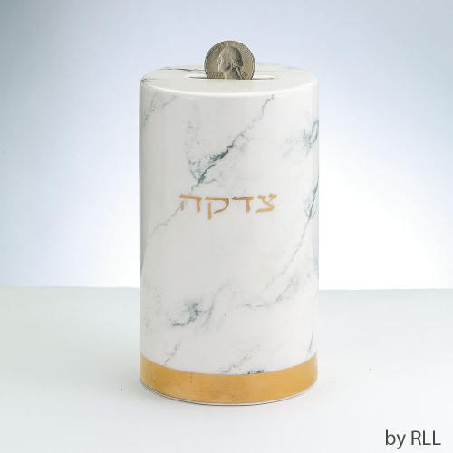TBYW-3 Marble Design Ceramic Tzedakah Box