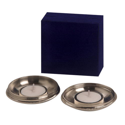 Travel Simple Round Candle Holders With Velvet Box