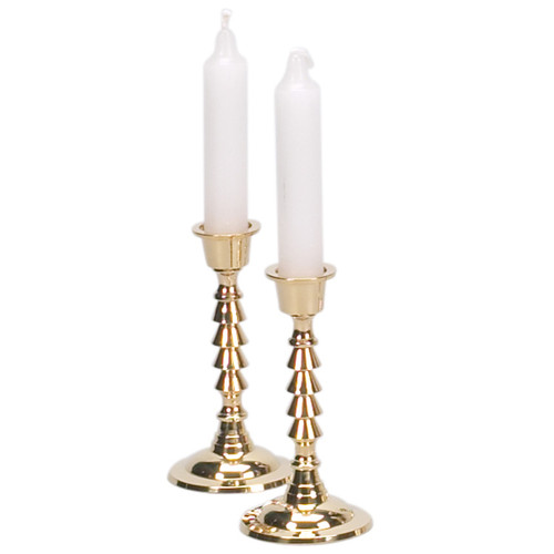 """Brass handle Layers design Candle Holders 4.5"""""""