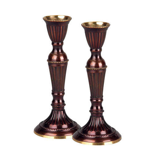 """Brass Candle Holders 5.75"""""""