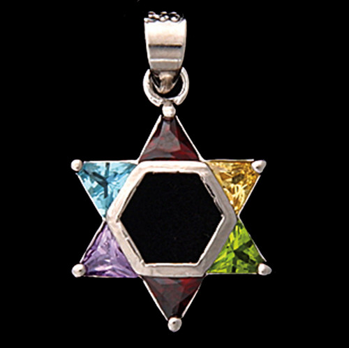 Star Of David Multicolor Pendant