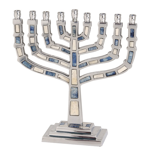 Aluminum Menorah 2 Colors inlay