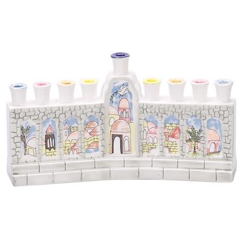 The Wall Ceramic Menorah