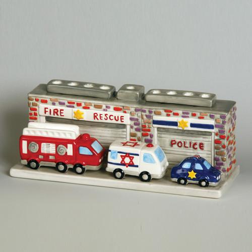 Fire Station Ceramic Menorah