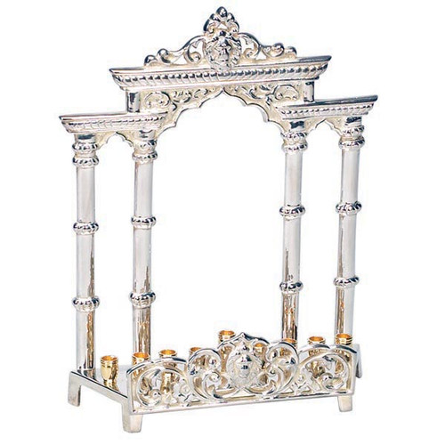 Arch Silver Plated Menorah