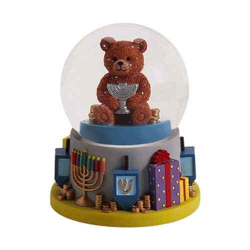 Chanukah Bear Water Globe