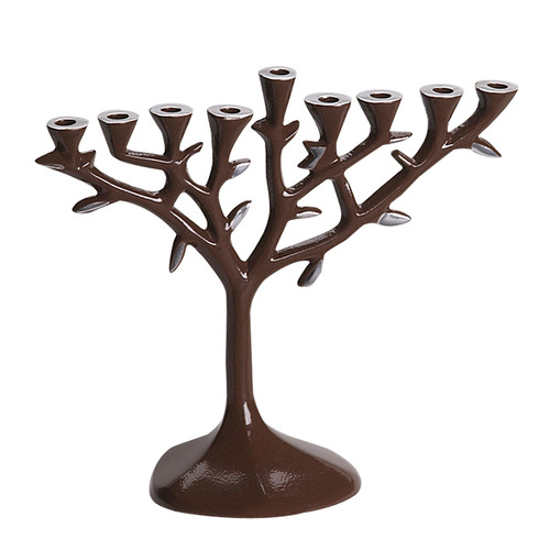 Aluminum Brown Menorah