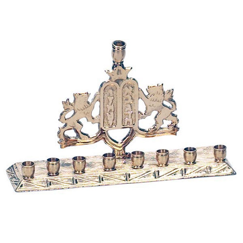 Brass with 10 commandments Menorah