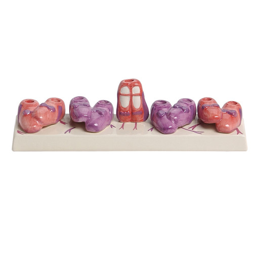 Ceramic Ballerina Shoes Menorah