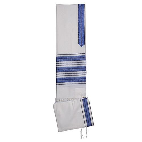 "18"" Blue and White stripe Talit no bag"