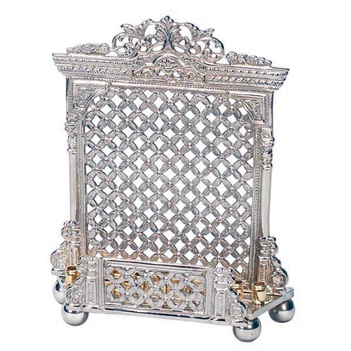 Silver Plated Standing Menorah