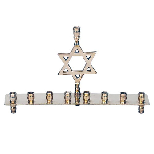 Brass Menorah with Star of David