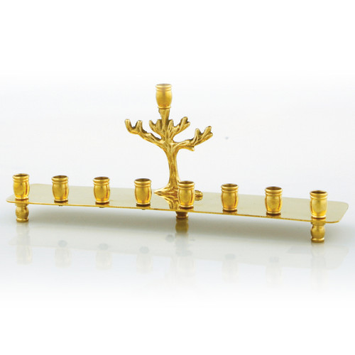 Brass Menorah Gold color