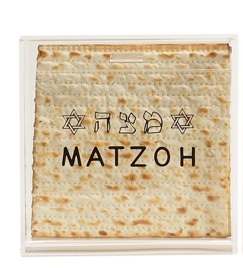 Matzah Design Acrylic Matzah Box
