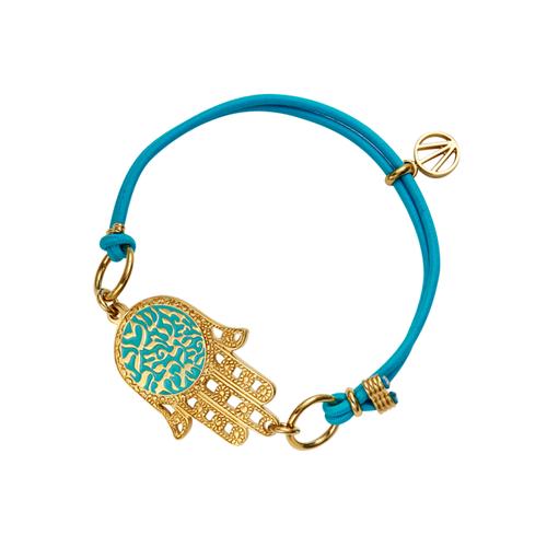 Rachel-רחל Shema Hamsa Bracelet