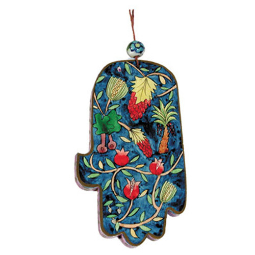 Emanuel Large Wood Painted Hamsa