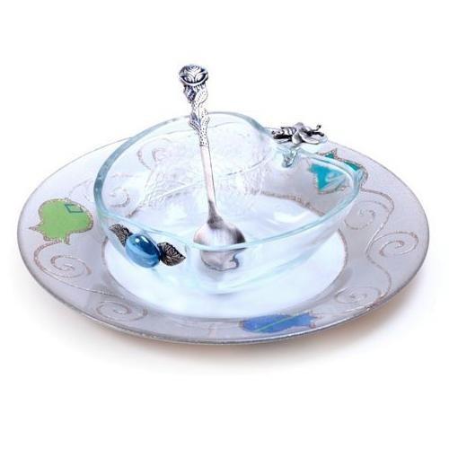 Lily Art Glass Honey Dish