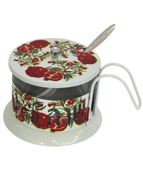 Honey Dish Aluminum Pomegranates