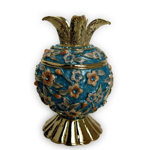 Karshi Jeweled Honey Dish, Floral Motif