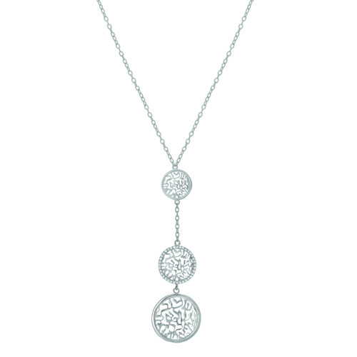Alona - Shema-Or silver necklace with triple charms