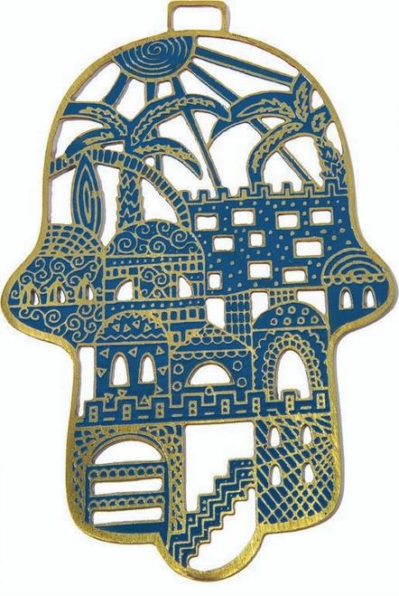 Lazer Cut Jerusalem Design Light Blue