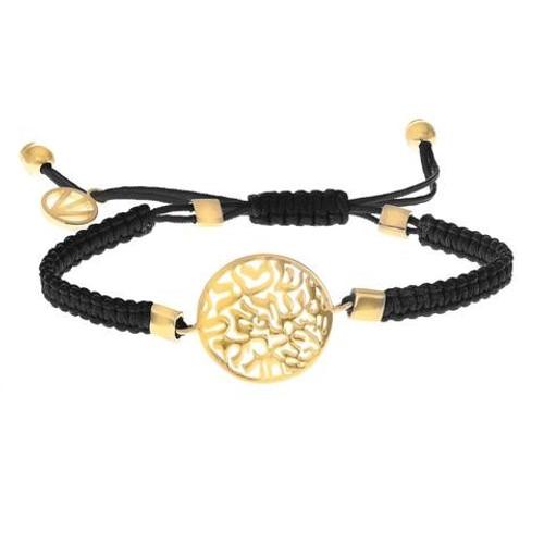Emanu-El Gold Shema with Black Bracelet