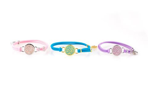 La-el Shema bracelet comes in Gold Pink, Gold lavender and Silver Pink