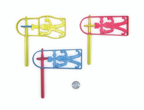 12 Large Purim Plastic Groggers   Israeli Style Graggers