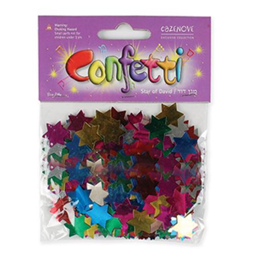 Star of David Multi Color Confetti