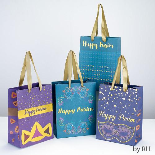 Set of 4 Purim Kraft Gift Bags