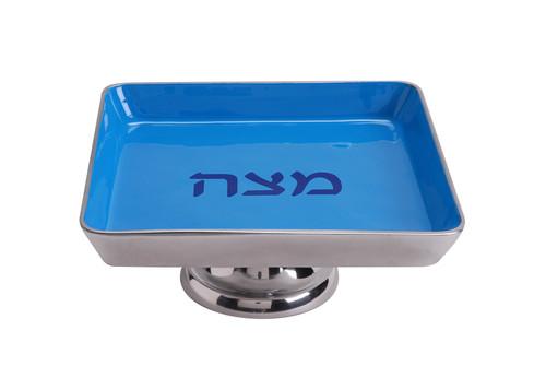 Aluminum Matzah Tray on Pedestal