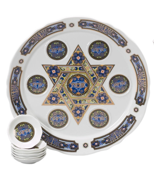 Passover Plate with matching dishes