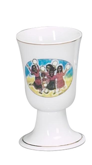 "Porcelain Miriam Cup 4.75"""